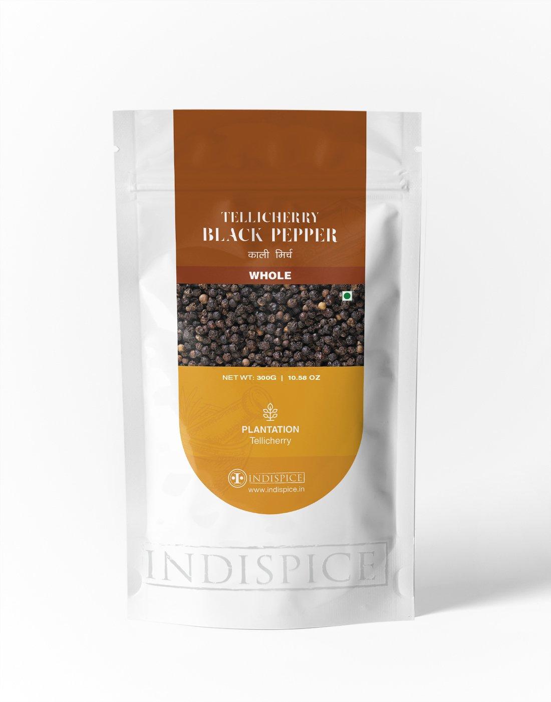 IndiSpice Tellicherry Black Pepper | Sourced From Finest Tellicherry Plantations in India (10.58 Oz)