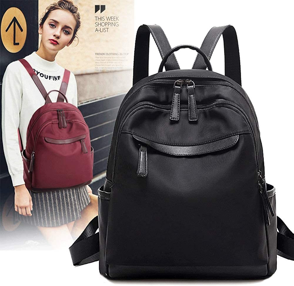 TRDyj Backpack Womens Backpack Korean Version of The Tide Oxford Cloth Canvas Fashion Wild Book Ladies Bag Travel Bag Female Black