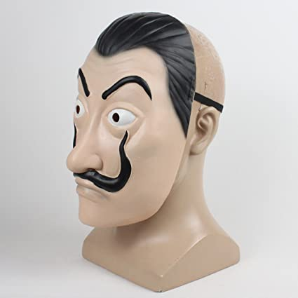 Amazon.com: Moniku Salvador Dali La Casa De Papel Realistic Mask (Latex Mask): Clothing