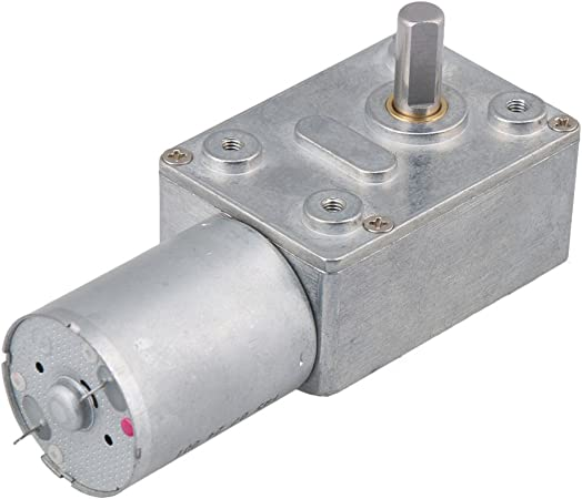 DC Metall Quadratisch hohe Drehmomente Turbo Schnecken Getriebe Motor Rechtwinklig Getriebemotor DC 6V 30RPM