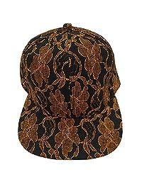 Lacey Hats Baseball Cap - Flat Bill Flower