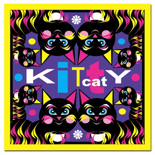 Kitty Cat by Grace Riley, 24x24-Inch Canvas Wall Art