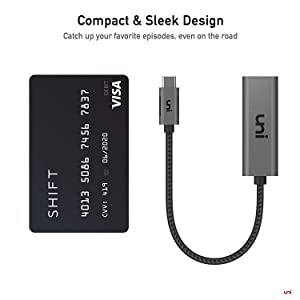 USB C to HDMI Adapter (4K@60Hz), uni USB Type-C to HDMI Adapter [Thunderbolt 3 Compatible] for MacBook Pro 2018/2017, MacBook Air/iPad Pro 2018, Samsung Galaxy S10/S9, Surface Book 2 and More - Gray (Color: Space Gray, Tamaño: Adapter HDMI)