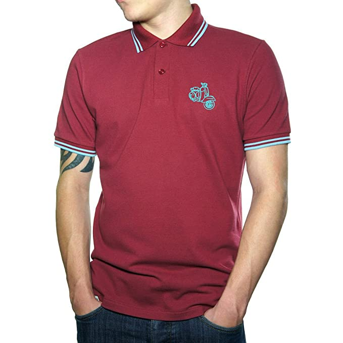 Vespa Scooter Top Quality Embroidered Polo Shirt - Polo para Hombre.: Amazon.es: Ropa y accesorios