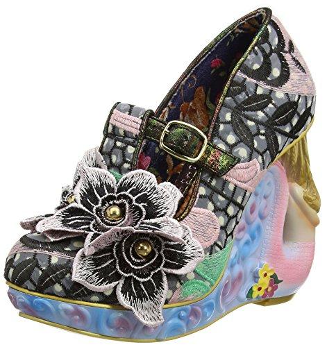 Irregular Choice Aquata - Zapatos Mujer Black (Black)