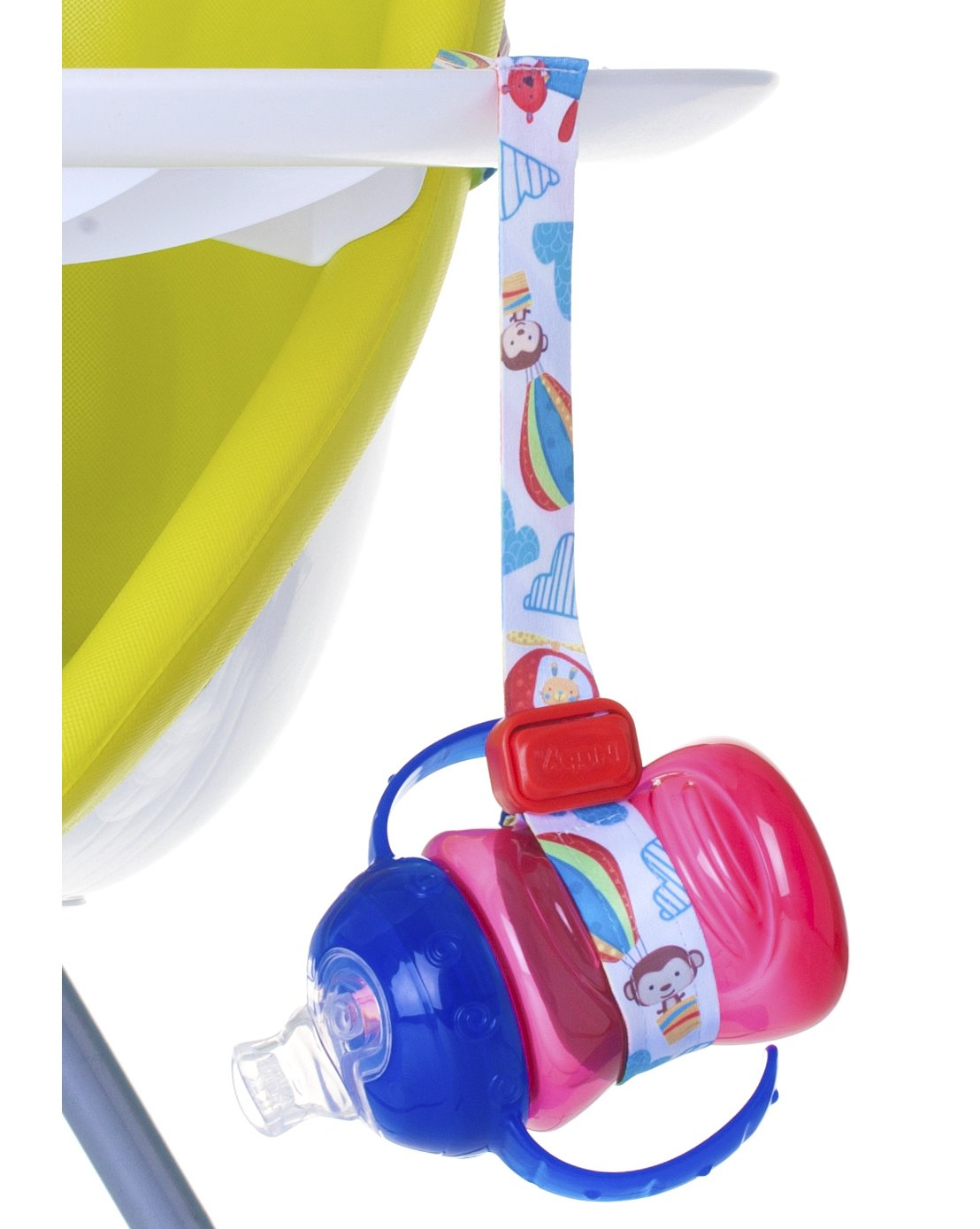 Nuby Keepeez Adjustable Bottle/Cup Strap, Red 92818