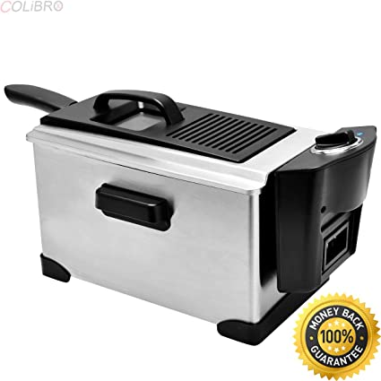 amazon com colibrox electric deep fryer stainless steel 3 1 2 rh amazon com presto electric deep fryer manual presto cooldaddy deep fryer manual