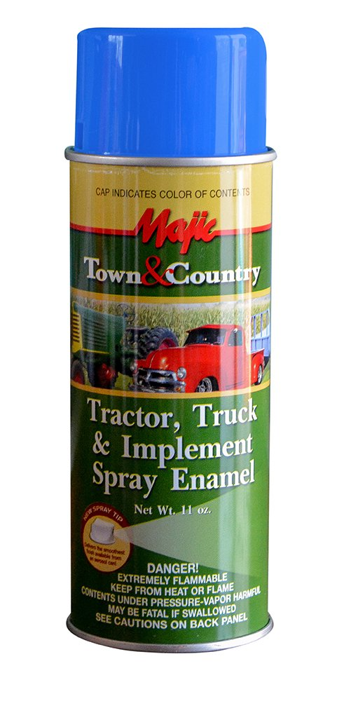 Majic Paints 8-20979-8 Tractor & Implement Spray Enamel Paint, Aerosol, New Ford/N.H. Blue