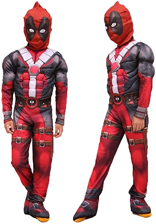 MornBee Deadpool Disfraz de Cosplay para niños, Halloween Party ...