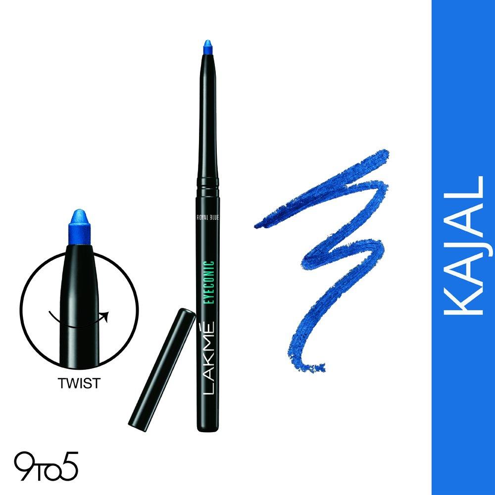 Lakmé Eyeconic Kajal, Royal Blue, 0.35g