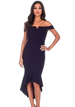 AX Paris Women s Bardot Fishtail Midi Dress at Amazon Women s ... 61142321d