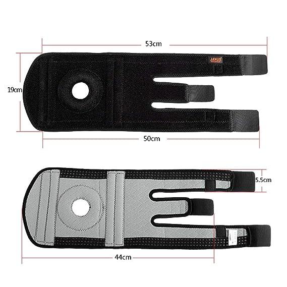PIAOLING Rodilleras Profesionales Rodilleras Ajustables al Aire Libre contra ca/ídas Fuerza de presi/ón Tibial Abierta Plus Estabilizador Tibial Velcro Ajustable Durable