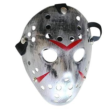 Mascara Halloween Jason, Zolimx Máscara de Halloween Terror Máscara de Cara Baratas Máscara de Disfraces (Plata): Amazon.es: Deportes y aire libre