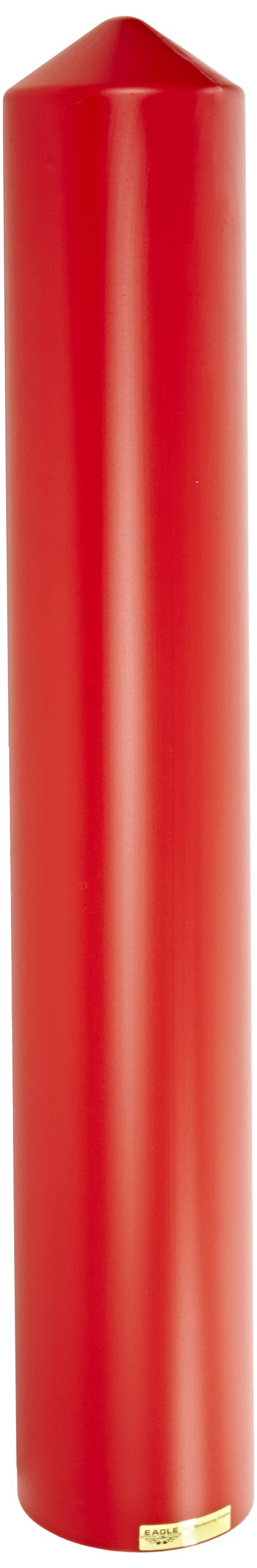 Eagle 1735R Smooth Post Sleeve, 4'' Size, Red, 5-1/4'' OD x 56'' Height