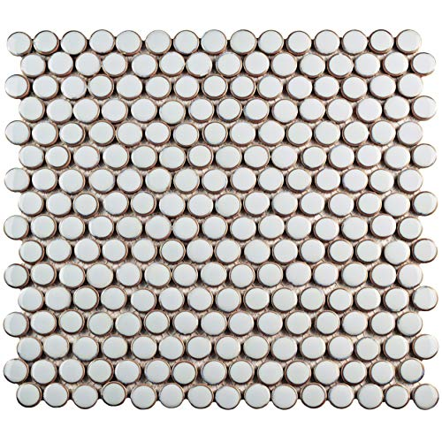 SomerTile FKOMPR40 Penny Porcelain Mosaic Floor and Wall, 12