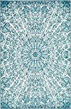 Cheap A2Z Rug Modern Persian Vintage Design Turquoise Rug 5′ x 8′ FT Sofia Area Rugs and Carpets Inspired Overdyed Fancy