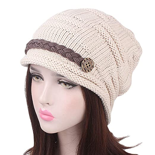 760238b6065f Image Unavailable. Image not available for. Color: Muranba Women Winter  Warm Soft Cable Knit Skull Cap Slouchy Beanie Hat