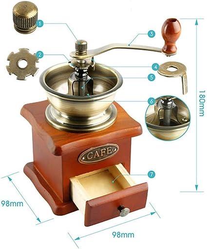 Fdit Broyeur Manuel de Grains de caf/é de Machines de m/énage de Machine de Grain de Moulin Manuel