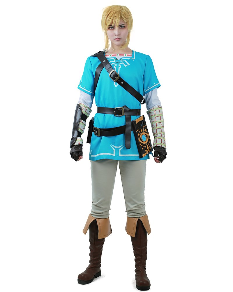 Miccostumes Men's The Legend Of Zelda: Breath Of The Wild Link Cosplay Costume (Men m)
