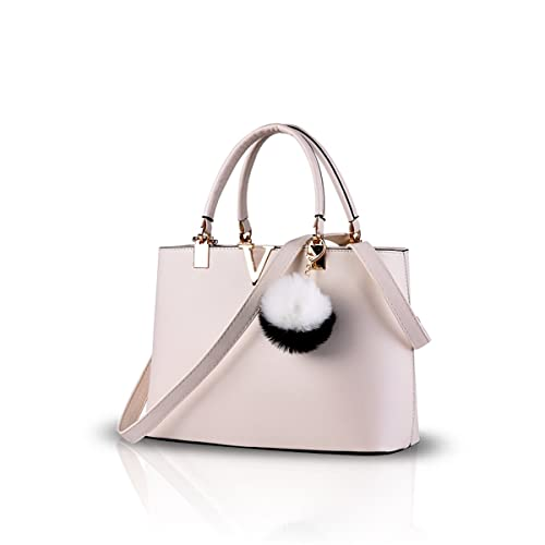 3d3ede2fef91 NICOLE DORIS New Trend Minimalist Fashion Handbag for Women Casual Shoulder  Cross-Body Bag(Creamy