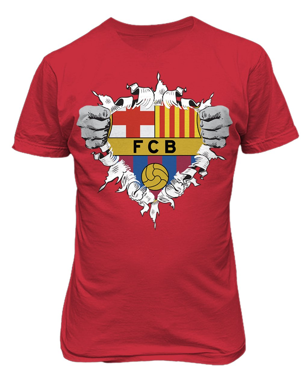 上質で快適 Smartzone Youth Futbol Club Club レッド BarcelonaスーパーヒーローロゴSoccer Football Futbol Tシャツ Youth X-Large レッド B0765SQFSR, きもの幸造:fc6f0569 --- narvafouette.eu