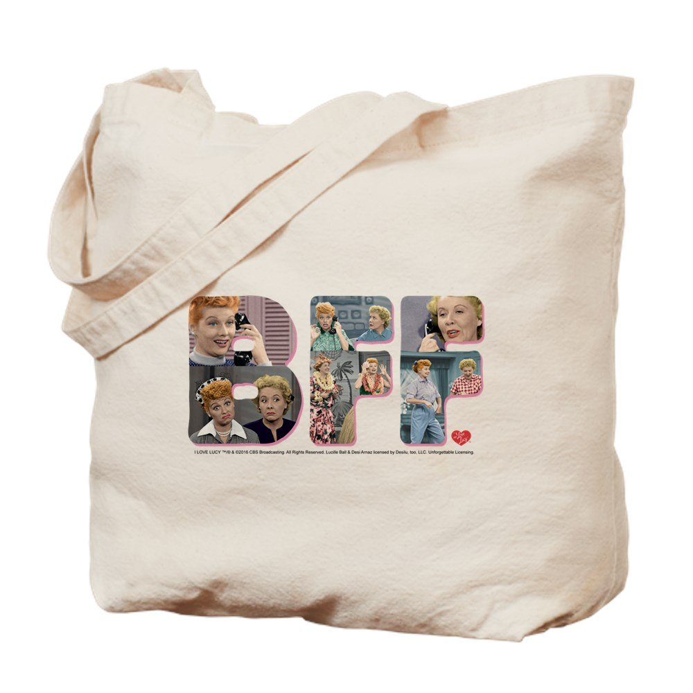 CafePress - I Love Lucy: BFF - Natural Canvas Tote Bag, Cloth Shopping Bag