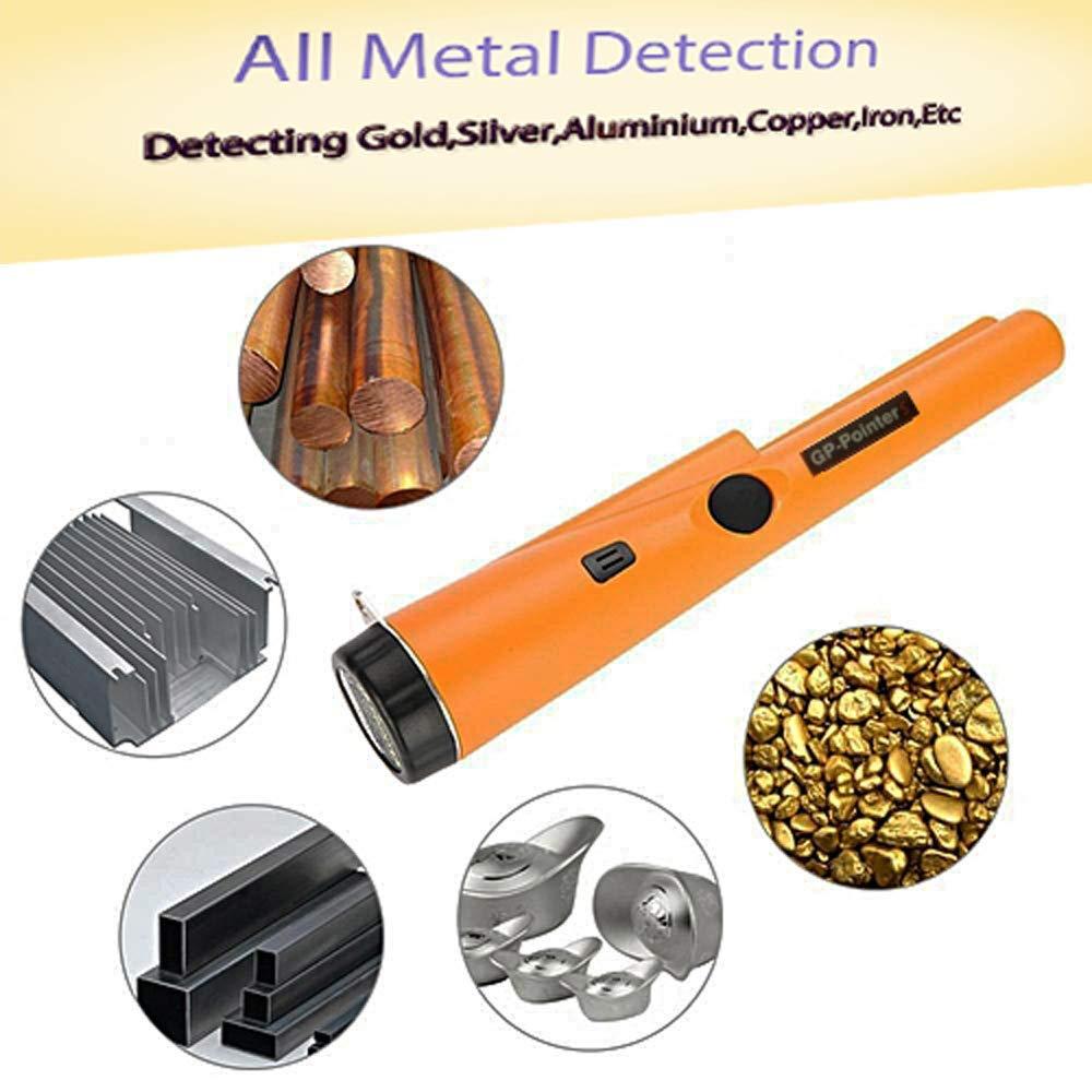 Three Mode HUKOER Pinpointer Metalldetektor Wasserdichter automatischer Pin Pointer Metalldetektor mit G/ürtelholster f/ür Erwachsene und Kinder Orange