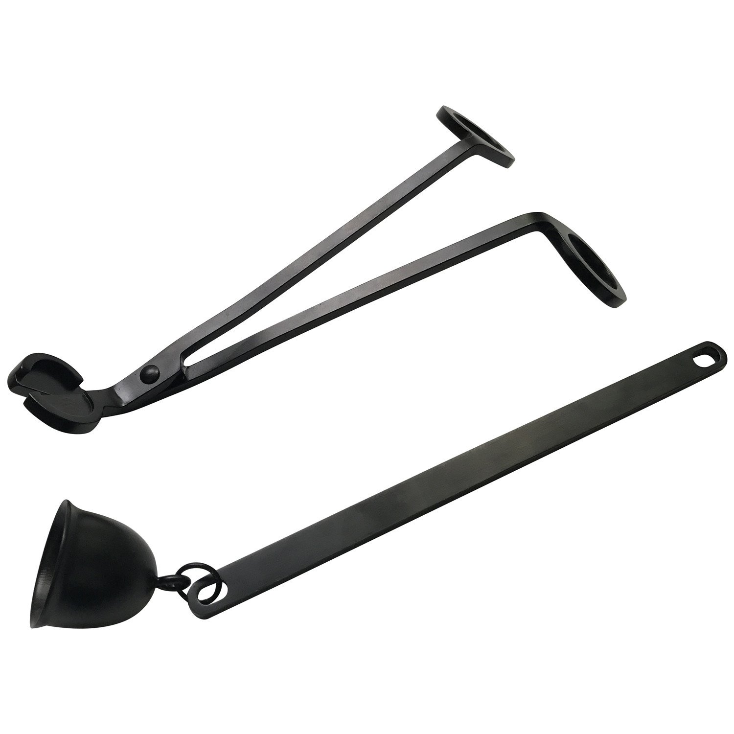 Viscacha Matte Black Stainless Steel Candle Wick Trimmer and Candle Snuffer Set by Viscacha