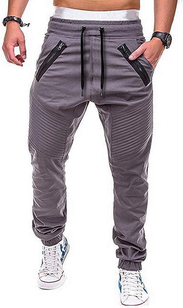 Rela Bota Men's Cargo Pants Slim Fit Sweatpants Jogger Drawstring Elastic Outdoor Trousers with Pockets