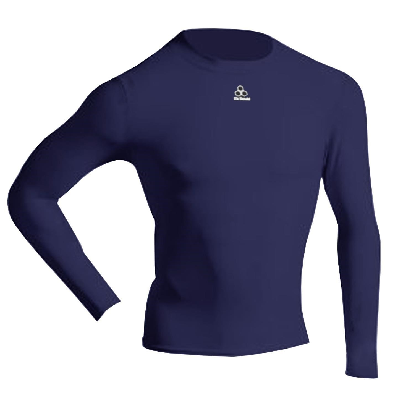 McDavid 884 Classic Front Logo Long Sleeve Compression Shirt Navy 3XL