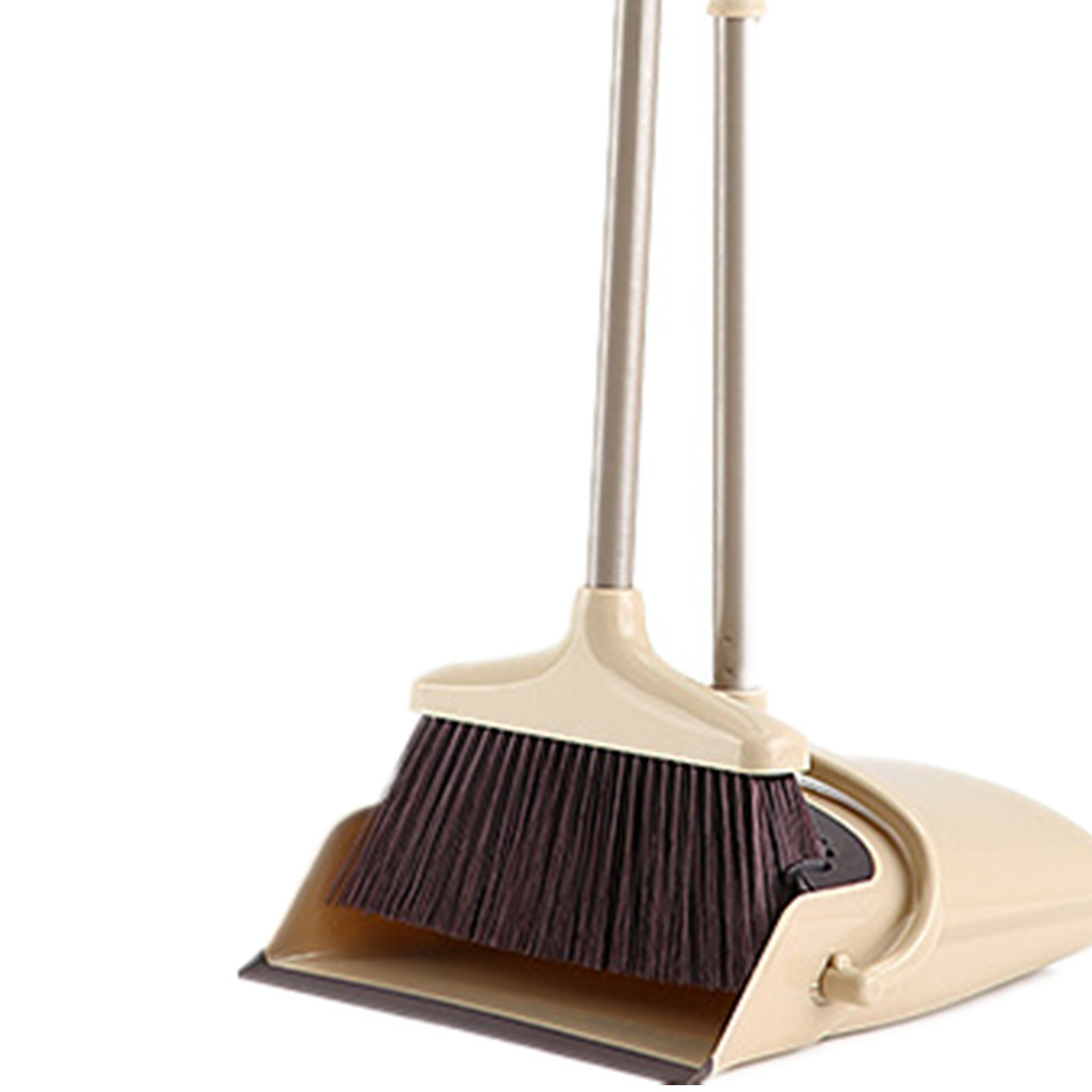 Broom and Dustpan Set, 48 inch Extendable Broom Standing Upright - Wind Proof - Foldable Sweep Set with Soft Bristles & Rubber Edge & Dust Pan with Teeth, Perfect for Kitchen, Garden, Office, etc. by SerBion (Image #1)