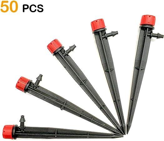 Lots 10-100pcs Adjustable Flow Irrigation Dripper 360 Degree Emitter Drip System