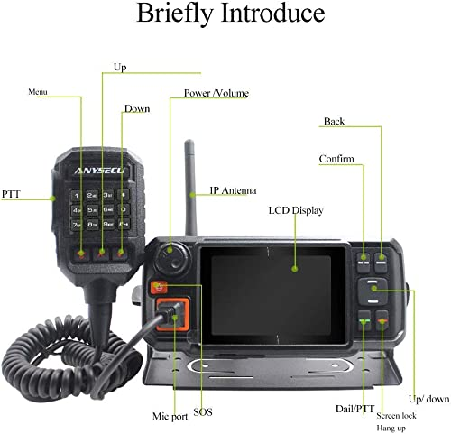 ANYSECU 4G-W2 Plus N60 3G 4G LTE FDD Mobile Radio IP Network PTT Radio Work with ZELLO Real PTT