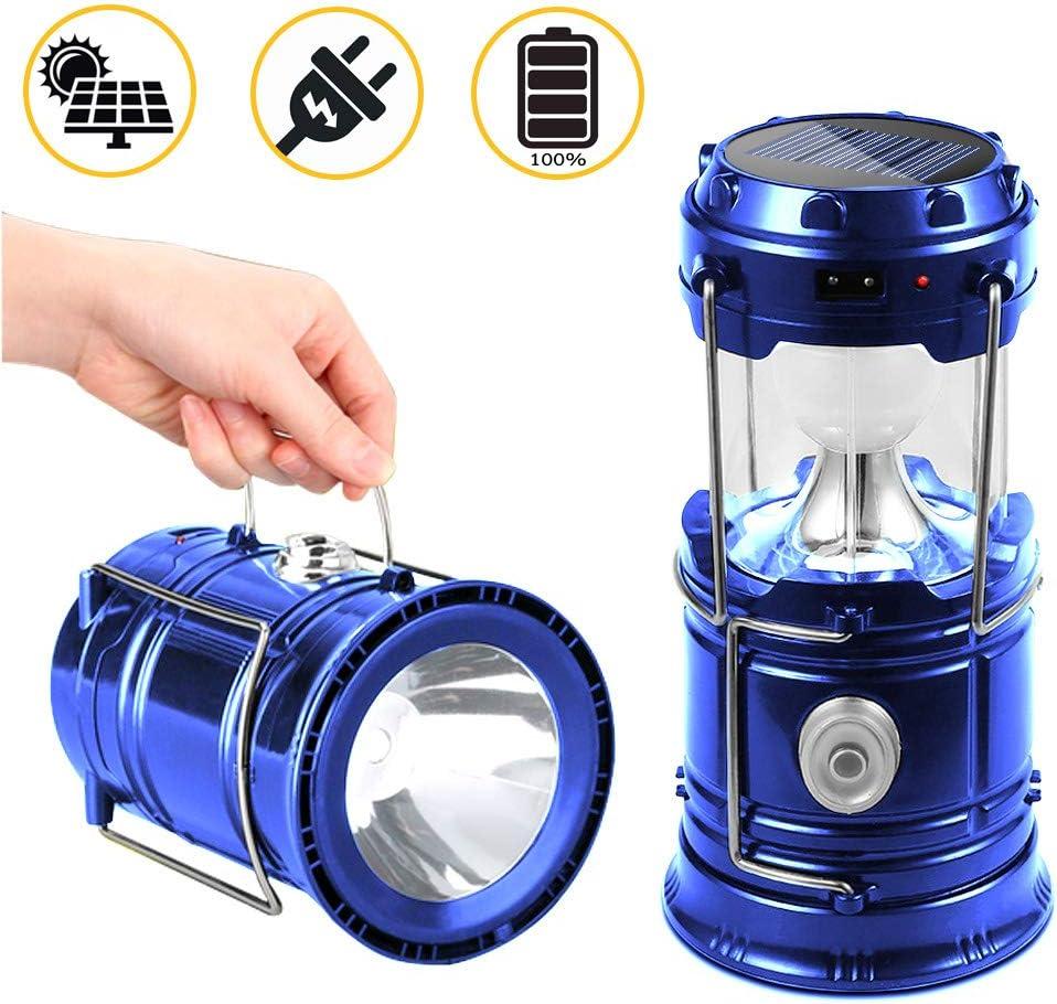 Suntop Lampara de Camping, Faroles Portátiles LED Lámpara Exterior Plegable - Bateria Cargada - Impermeable para Camping,Luz de ...