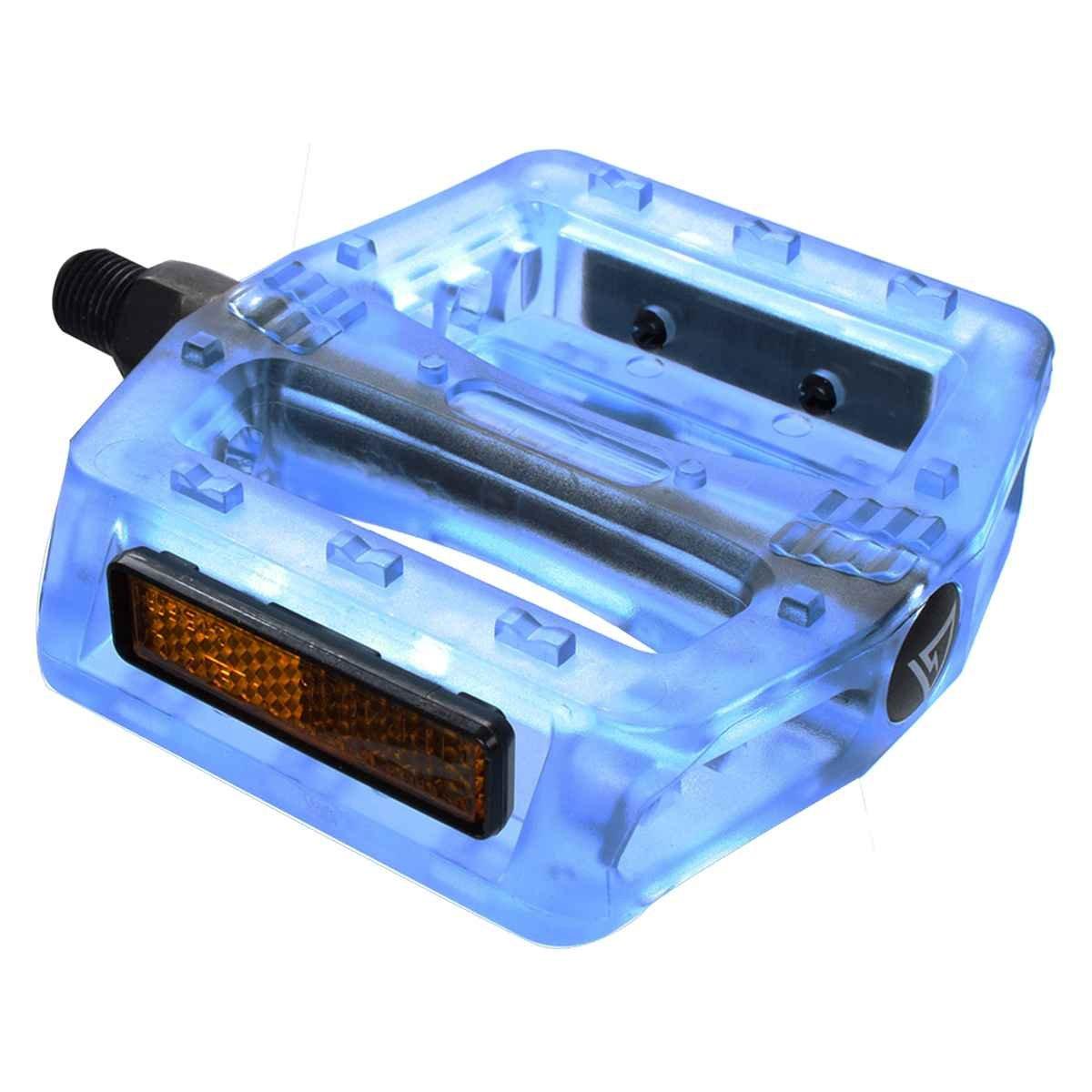 """Schwarz Ops BMX Gummy Pedals, 9 16"""", Blau"""
