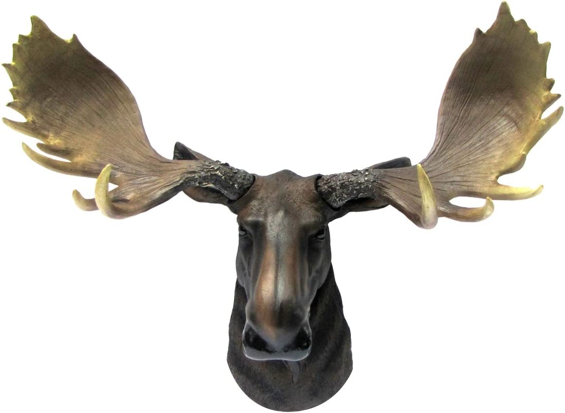 Wall Mount North American Moose Bust Man Cave Cabin Lodge Fake Taxidermy Decor