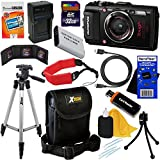 Olympus Stylus Tough TG-4 Water, Shock, Freeze & Crush Proof 16MP Wi-Fi Digital Camera with GPS & HD Video, Black (International Version) + Battery & Charger +11pc 32GB Dlx Acc Kit w/HeroFiber® Cloth