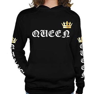 Sudadera Queen/King - Sudadera con Capucha (S)