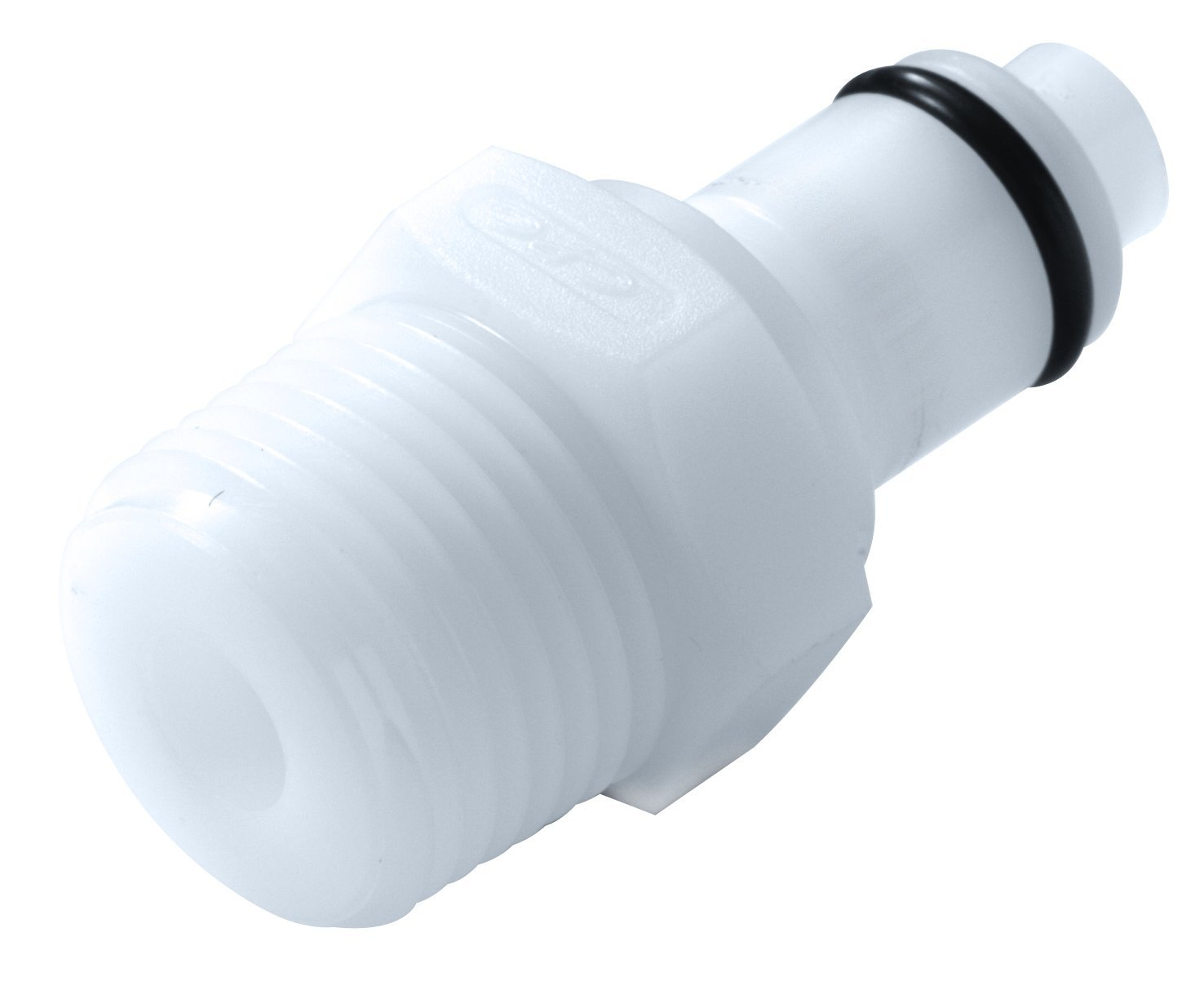 Colder PMC2404 Acetal Tube Fitting, Insert, Straight Thru, In-Line, 1/8'' Insert x 1/4'' NPT Male by Colder Products Company