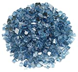 "American Fireglass 1/2"" Pacific Blue Reflective Fire Glass, 20 lb. Bag"
