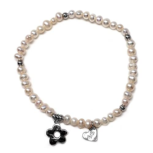 674e89973a Bracciale in argento Agatha Ruiz de la Prada 17 centimetri. perline bianche  [AB5653]: Amazon.it: Gioielli