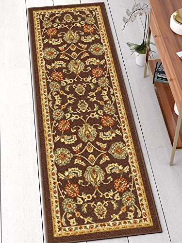 Well Woven 66332 Kings Court Tabriz Traditional Brown Oriental 2' x 7' Runner Indoor/Outdoor Area Rug