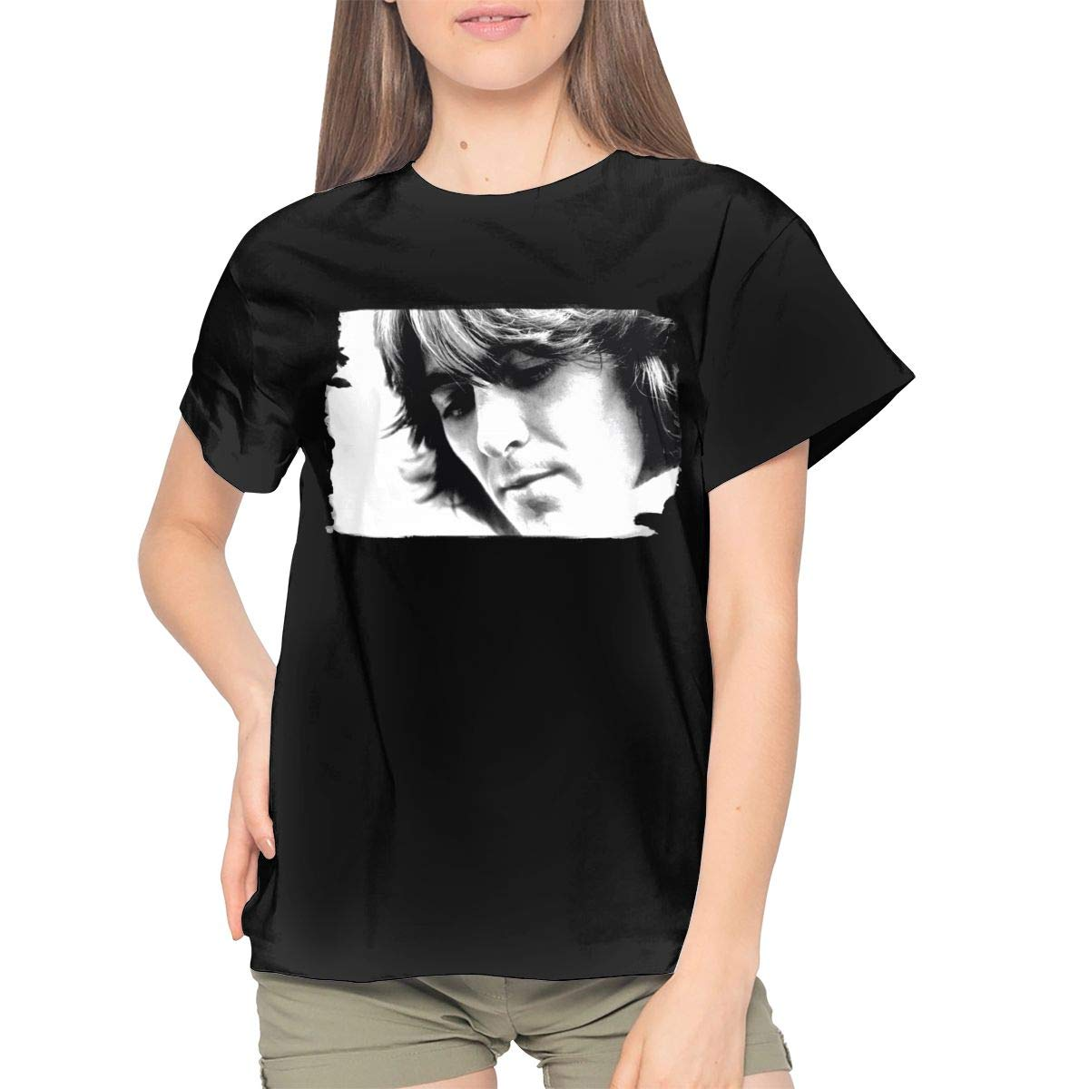 Woman Cool George Harrison Let It Roll Daily Music Anime Game Concert Short Sleeves T Shir