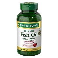 Nature's Bounty Fish Oil 1400 Mg Odor-less Maximum Strength: 130 Coated Softgels...