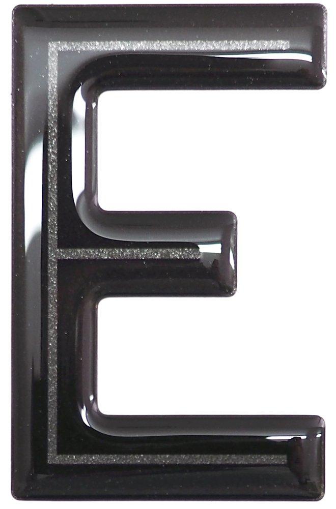 Highline Gel Domed Self Adhesive Number Plate Digit 'E' Capricornone