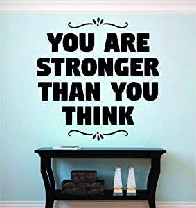 BYRON HOYLE You are Stronger Than You Think Motivational Vinyl Decal Wall Sticker Decor Quote