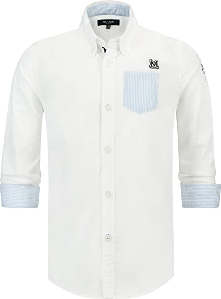 McGregor - Camisa de Manga Larga Paul Solid RF, niño, Color: Blanco (10): Amazon.es: Ropa y accesorios