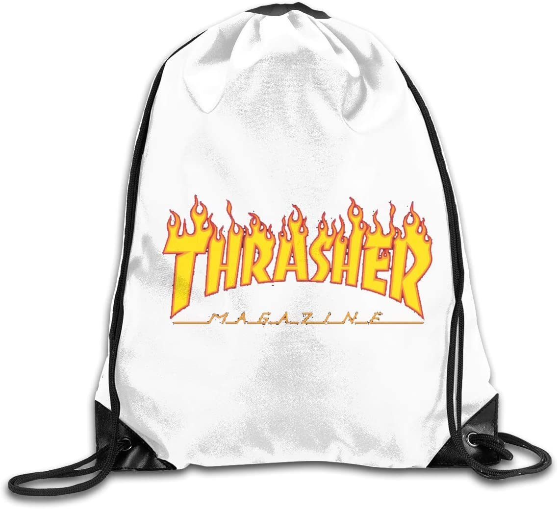 Thrasher Drawstring Bags Eat Sleep Dance Repeat Beam Mouth Backpack Basketball Tennis Gympack