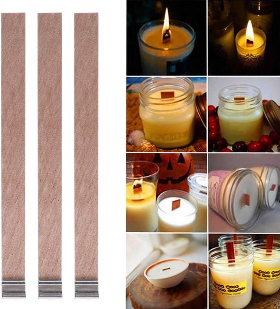 Youliy Lot de 50 bougies /à m/èche en bois 12,5 mm