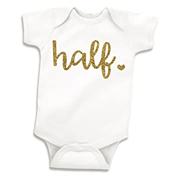 36cbfd49a98c Image Unavailable. Image not available for. Color  Half Birthday Outfit ...